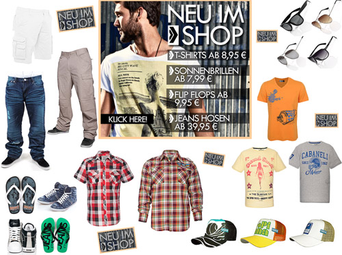 Neue Herrenmode im 77 Onlineshop