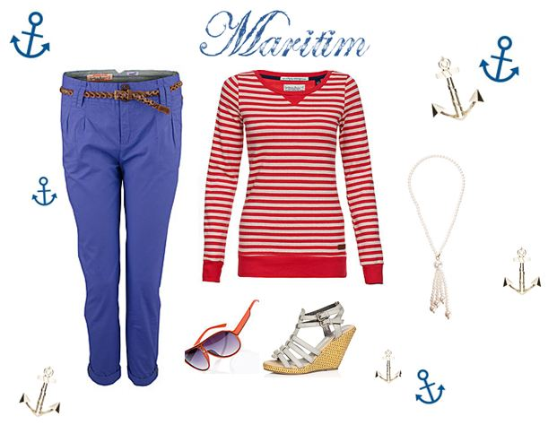Mode im Marine Look